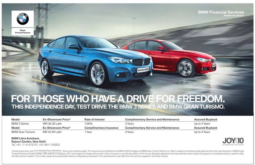 Bmw Cars For Those Who Have A Drive For Freedom Ad Delhi Times Check Out More Car Advertisement Collection At Https Www Advertg Bmw Cars Bmw Car Advertising