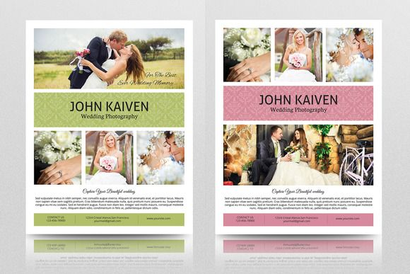 Wedding Photography Flyer Template Eczalinf