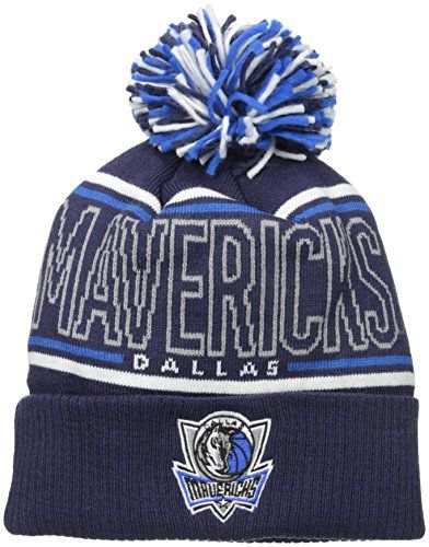 outlet store e89a7 904aa NBA Men s Energy Stripe Cuffed Knit Pom Made From  Acrylic Shell Double  layer knit beanie Team colors and logo Team colored pom on top One size  fits most