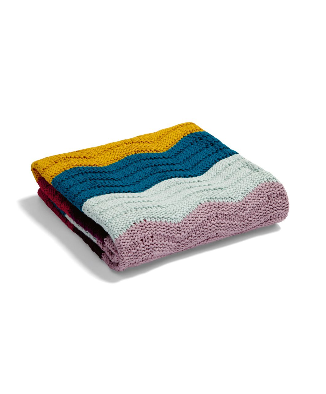 Patternology Wave Knitted Blanket To Fit Moses Baskets Cribs