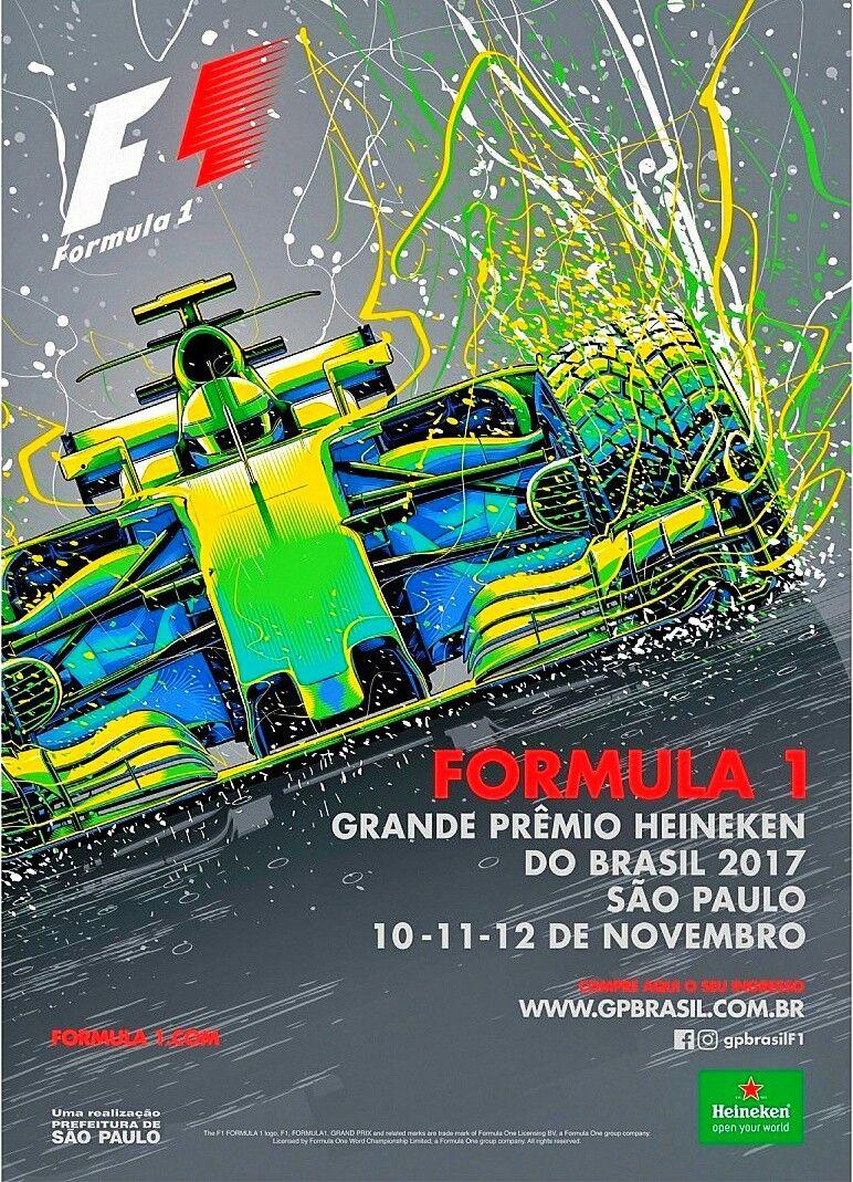 2017 Brazilian Grand Prix official poster. #F1 #Formula1 #BrazilGP ...