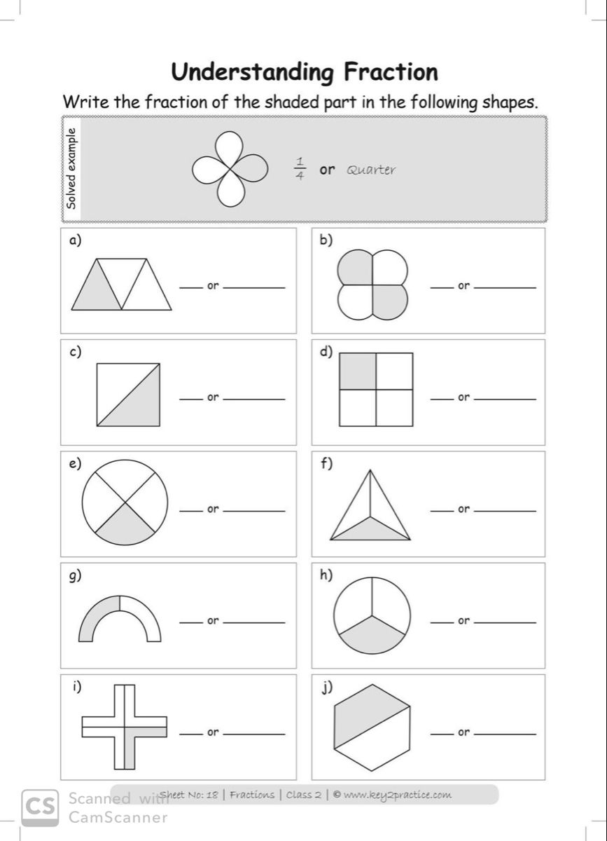 Maths Fractions Worksheets Grade 2 Key2practice Workbooks In 2020 Fractions Worksheets Math Workbook Fractions