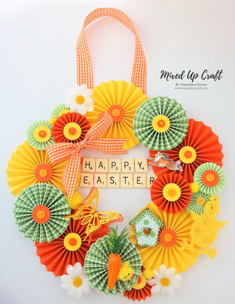 Easter rosette wreath paper rosettes crafts rosettes