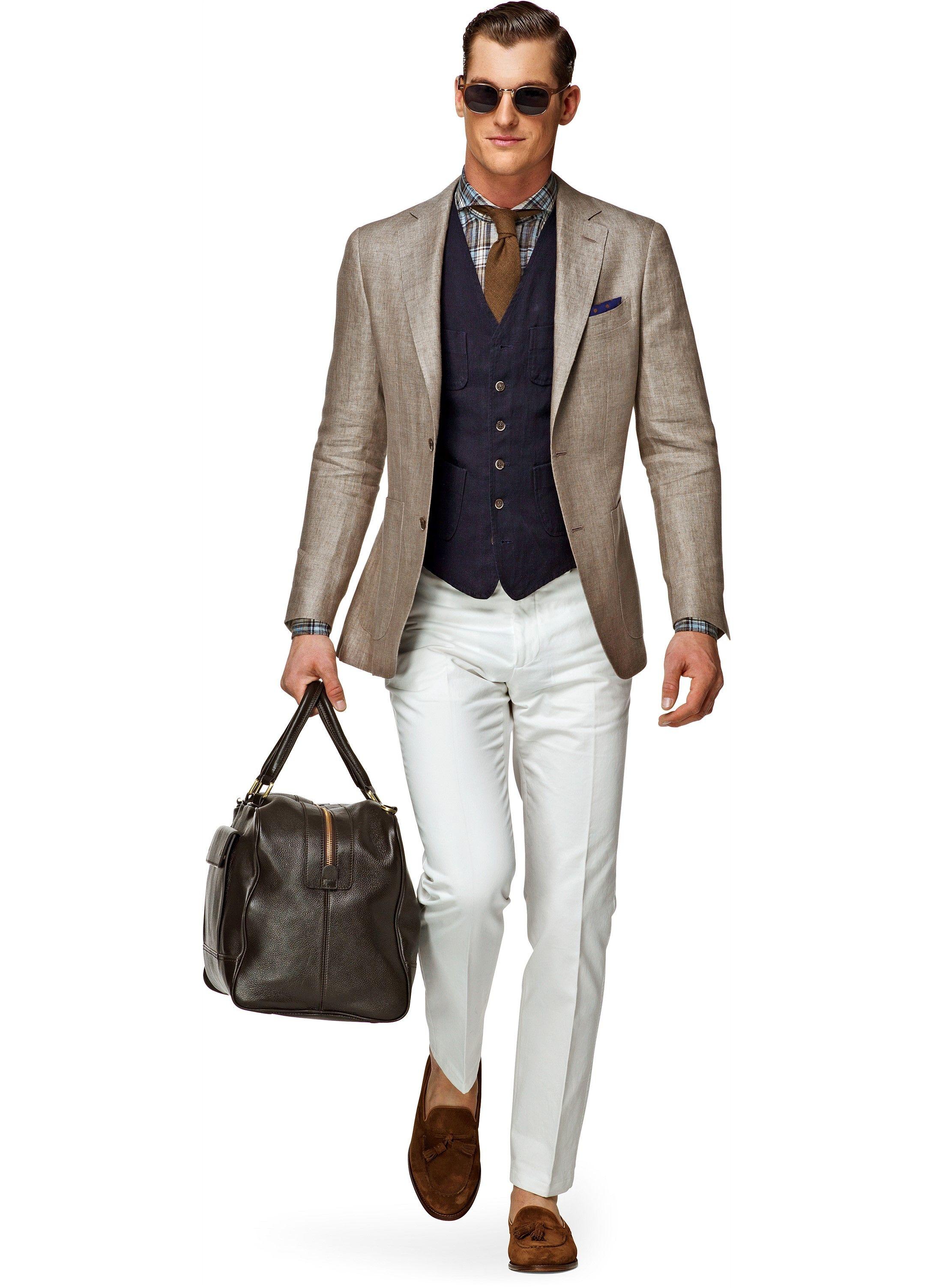 Jacket Light Brown Plain Havana C544 | Suitsupply Online Store