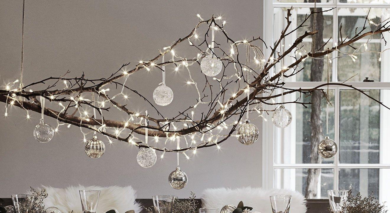 leuke kersttak met verlichting en glazen ballen weihnachten pinterest weihnachten deko. Black Bedroom Furniture Sets. Home Design Ideas