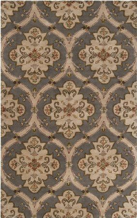 Surya Crowne Crn 6026 Hand Tufted 100 Wool Gray 10 X 14 Area Rug Area Rug Collections Area Rugs Transitional Area Rugs
