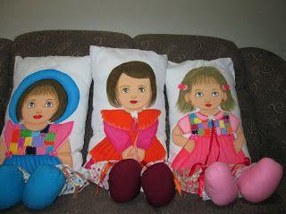 GRACI PINTURAS: Bonecas Almofadas