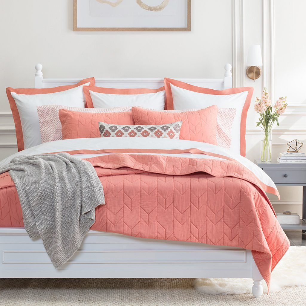 Pin By Marlene Krisko On Plants And Pink In 2020 Coral Bedroom Grey Coral Bedroom Luxury Duvet Sets