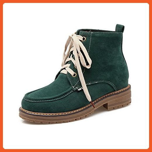 Women's Faux Nubuck Lace-up Chunky Ankle High Desert Boots