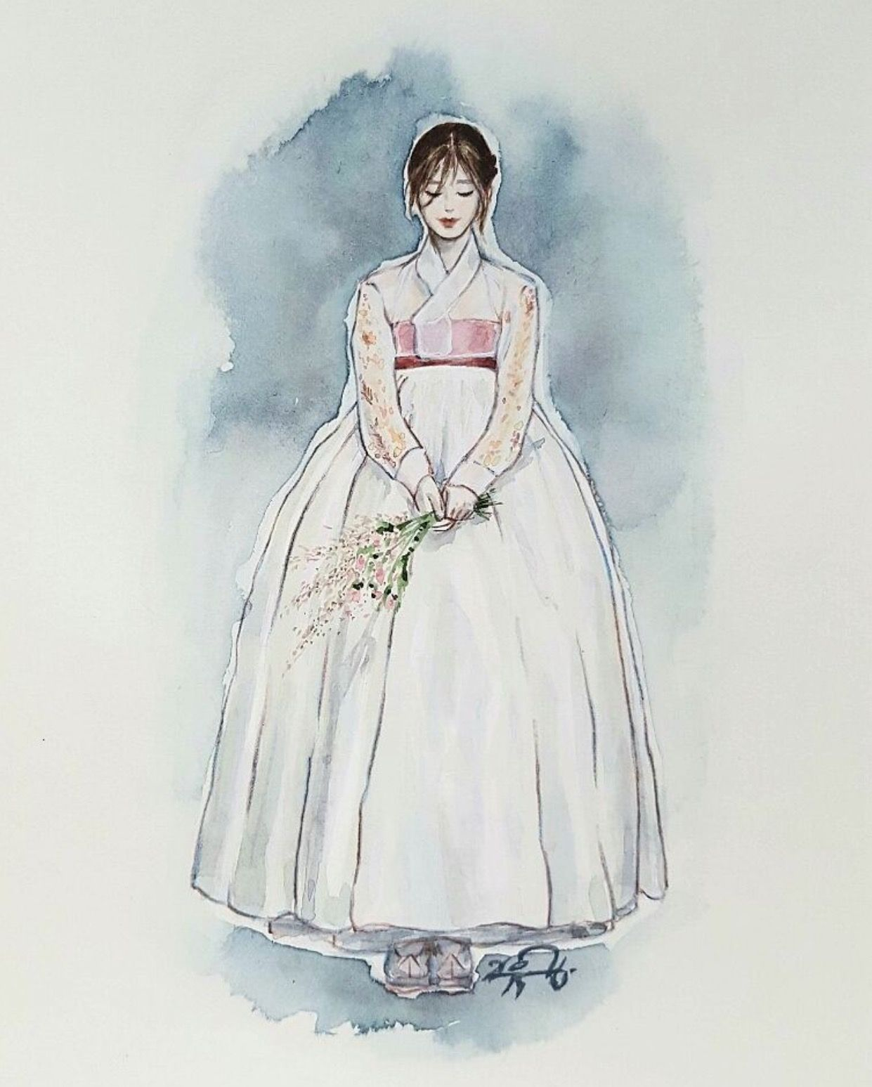 hanbok illustration ���� hanbok korean traditional