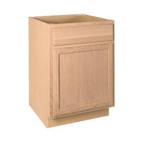 Product Image 1 Lowe S Unfinished Base Stock Cabinets Oak