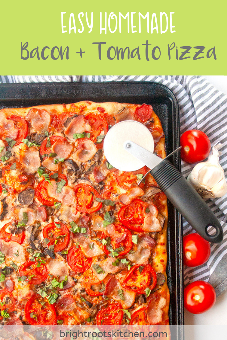 This easy sheet pan homemade pizza is fluffy, crispy and