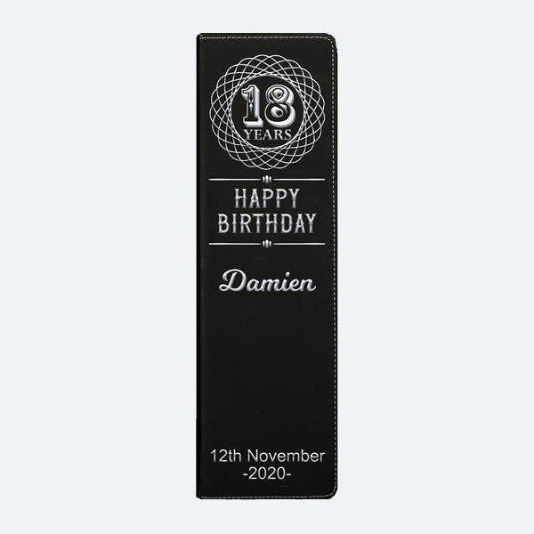18th Birthday Keepsake Personalised Wine Gift Set in 2020