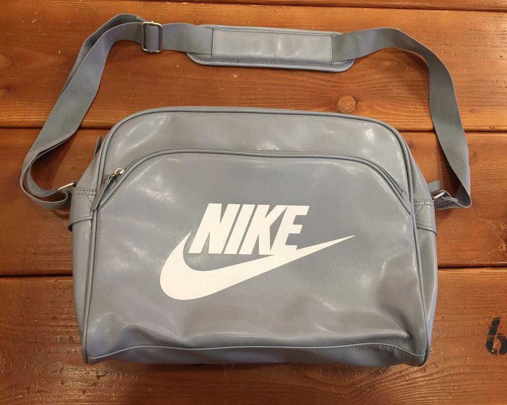 cfc3cbd5dc Nike Heritage SI Track Shoulder RETRO messenger BAG gray  BA4271 015  NEW   Nike  MessengerShoulderBag
