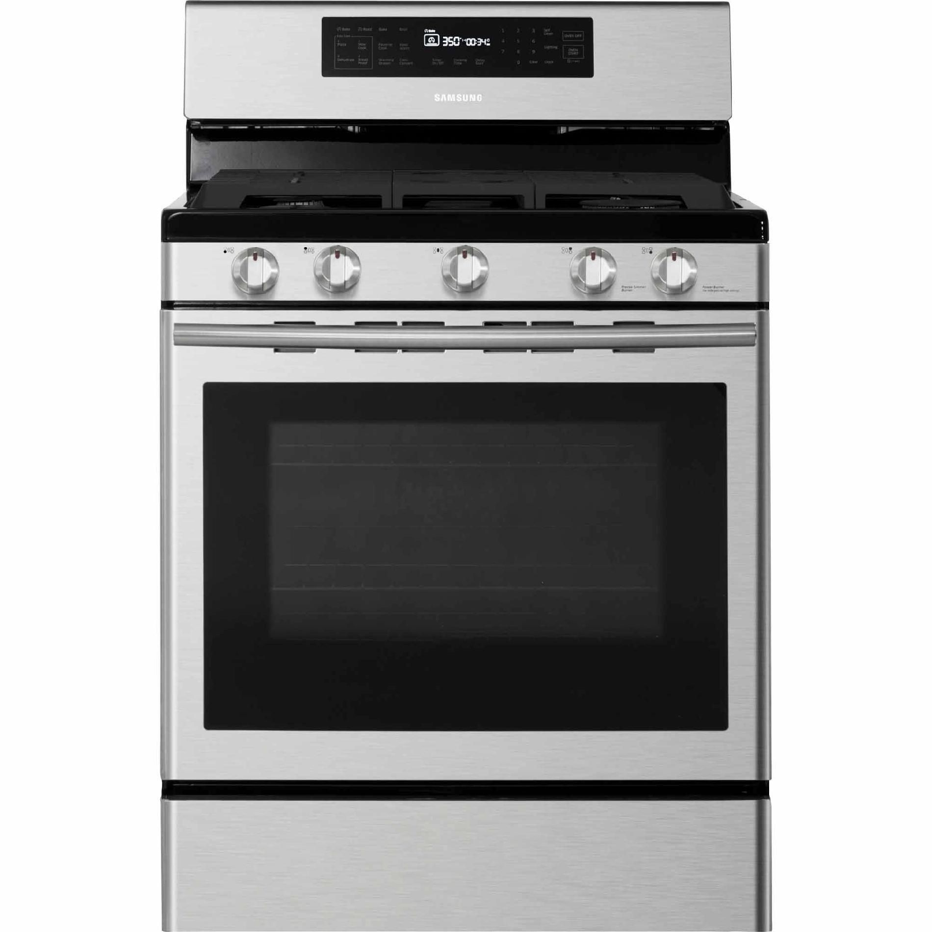 Samsung Nx58h5600ss 5 8 Cu Ft Gas Range W 5 Burner Cooktop  # Meuble Tv Sears