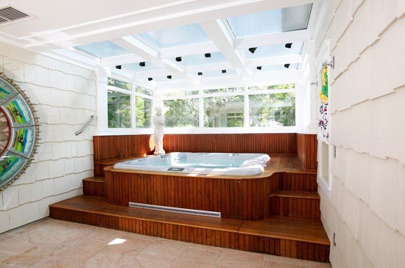 20 Indoor Jacuzzi Ideen Und Whirlpools Für Ein Warmes Bad Entspannung Stichworte Indoor Jacuzzi Hot Tub Room Indoor Hot Tub