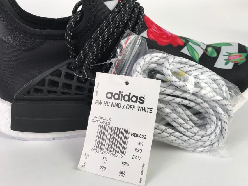 eeaf64aef Authentic Adidas Originals Pharrell Williams NMD X OFF WHITE BB0622 Real  Boost Running Shoes  40-45
