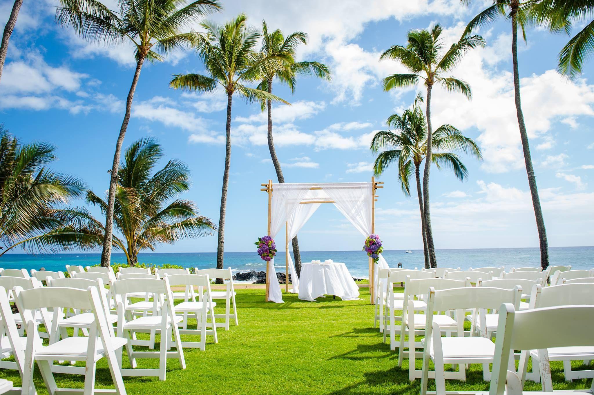 Colorful Kauai Hawaii Wedding Ceremony Beach Venue Sheraton Resort Coordination