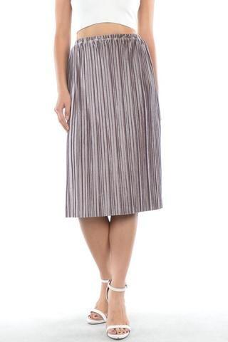 Amelia Velvet Pleated Skirt