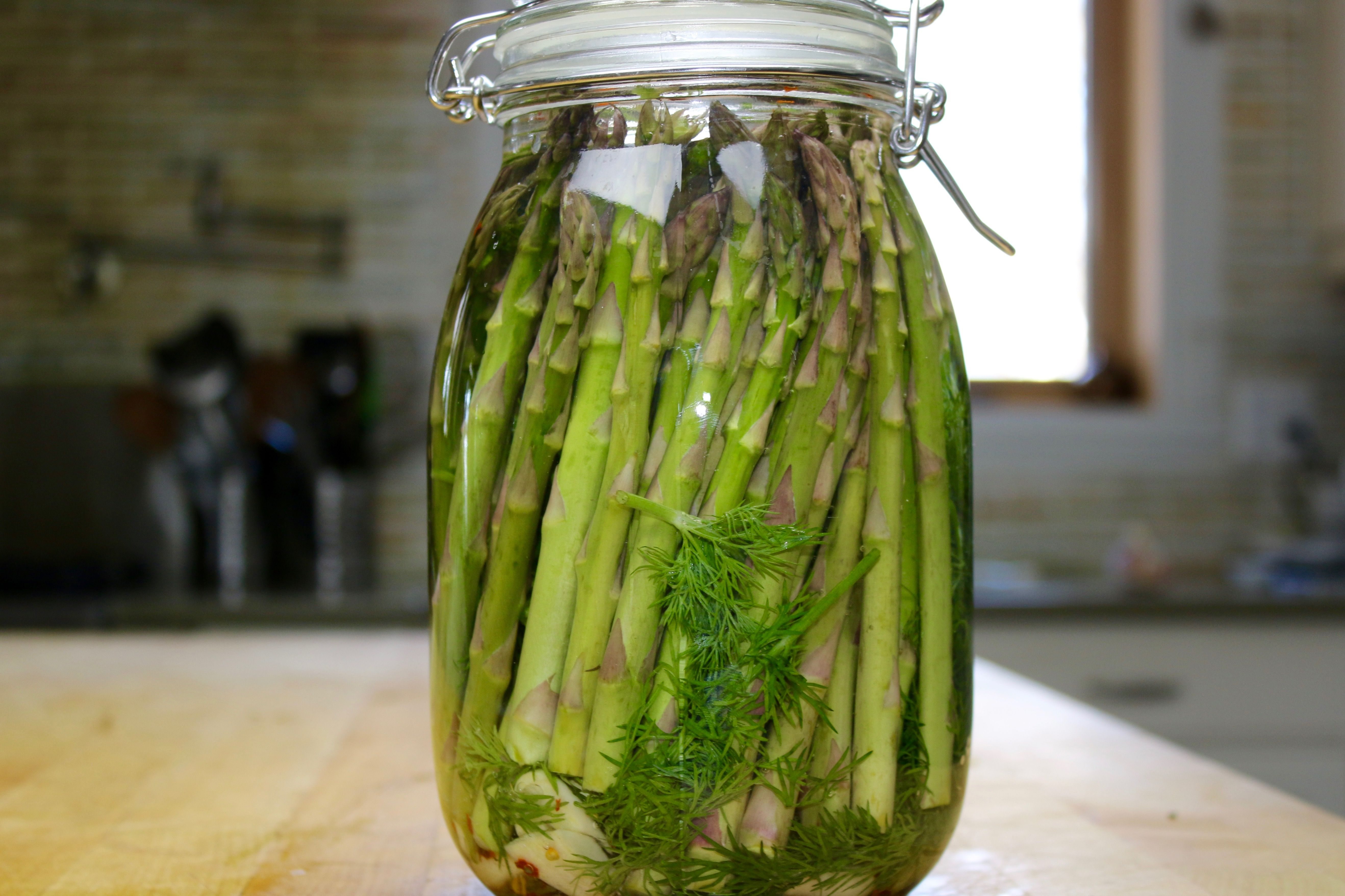 Dilled Lacto Fermented Asparagus Recipe Probiotic Foods And