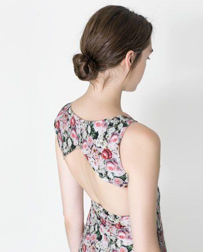 Zara Trf Sukienka W Kwiaty O Fasonie Olowkowym Floral Tube Dress Tube Dress Wedding Guest Outfit