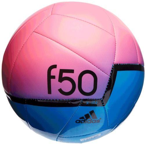 7dcf990f3473 $22.99 adidas F50 X-Ite Soccer Ball (Solar Blue/Neon Pink/Black) Athletic  Sports Equipment