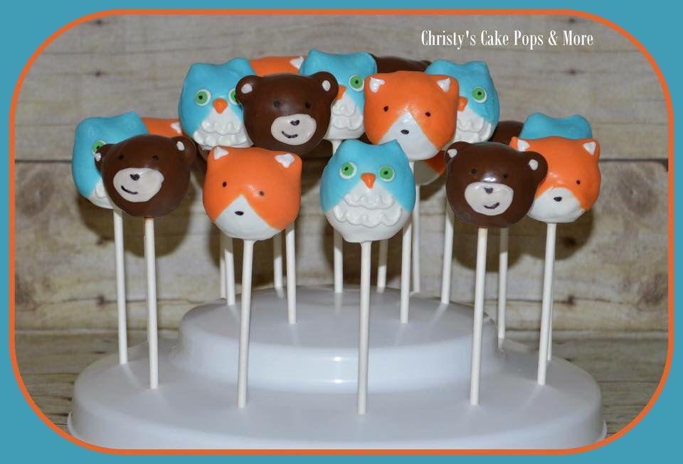 Woodland creatures cake pops fox cake pops raccoon by ... |Woodland Cake Balls