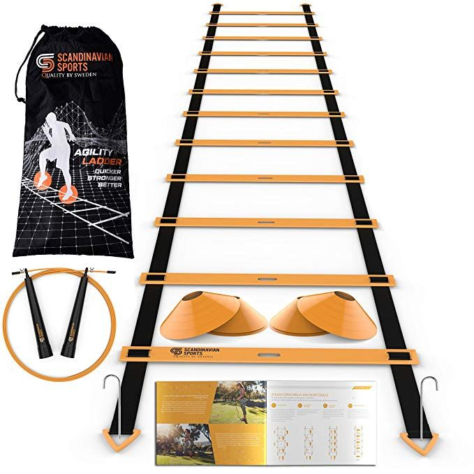Scandinavian Sports Speed Training Set Agility Ladder Jump Rope Sport Cones And Exercise Folder Premium Training Agility Ladder Training Tools Jump Rope