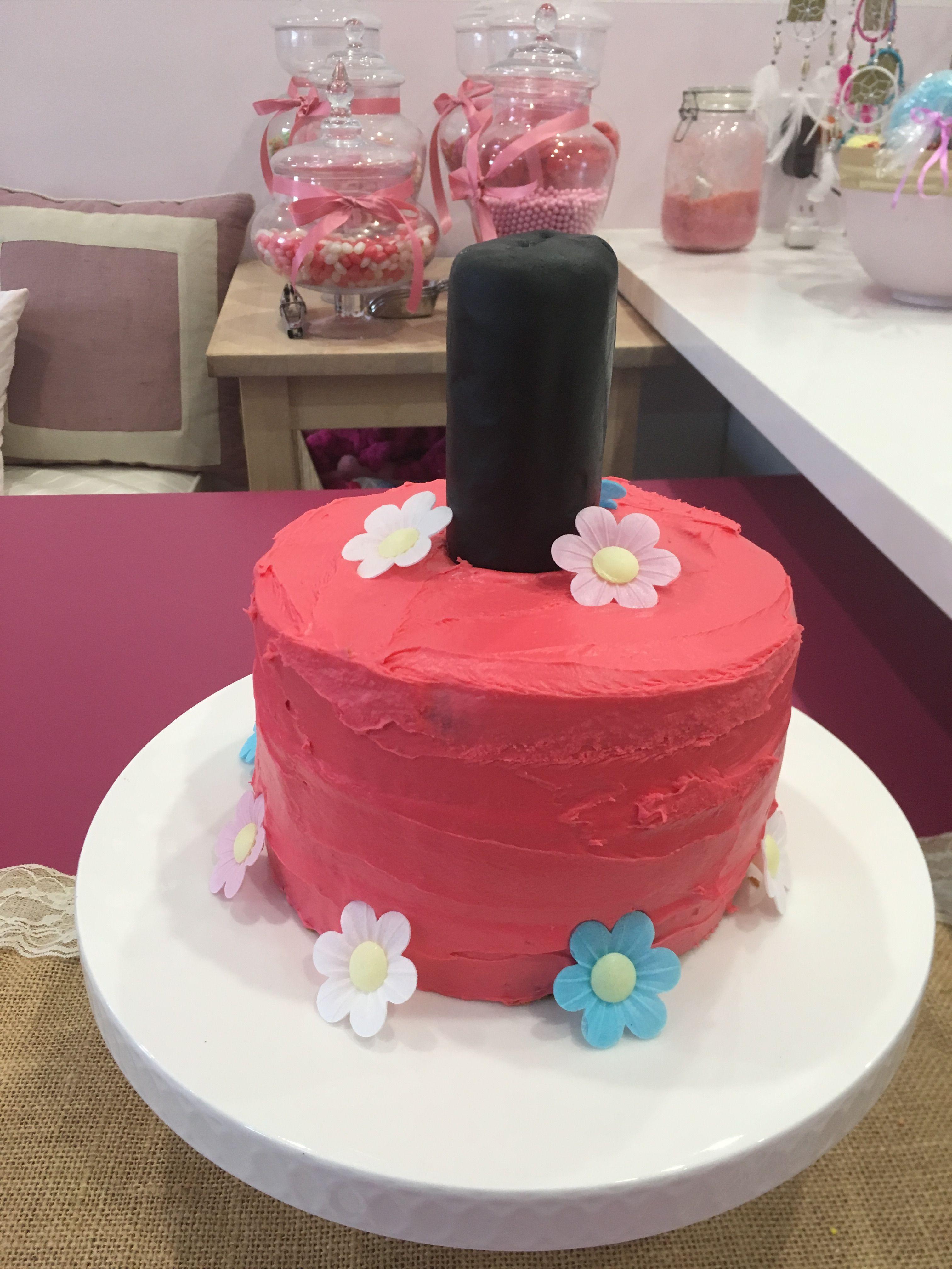 Nail Polish Birthday Cake Easy Party Girl Party Pinterest