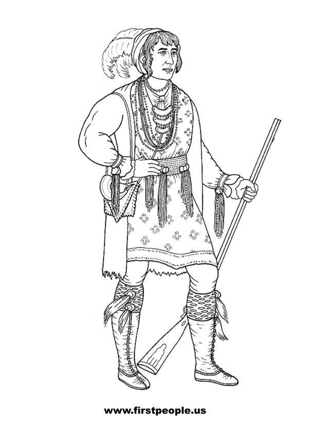 Osceola Seminole Clipart To Color In American