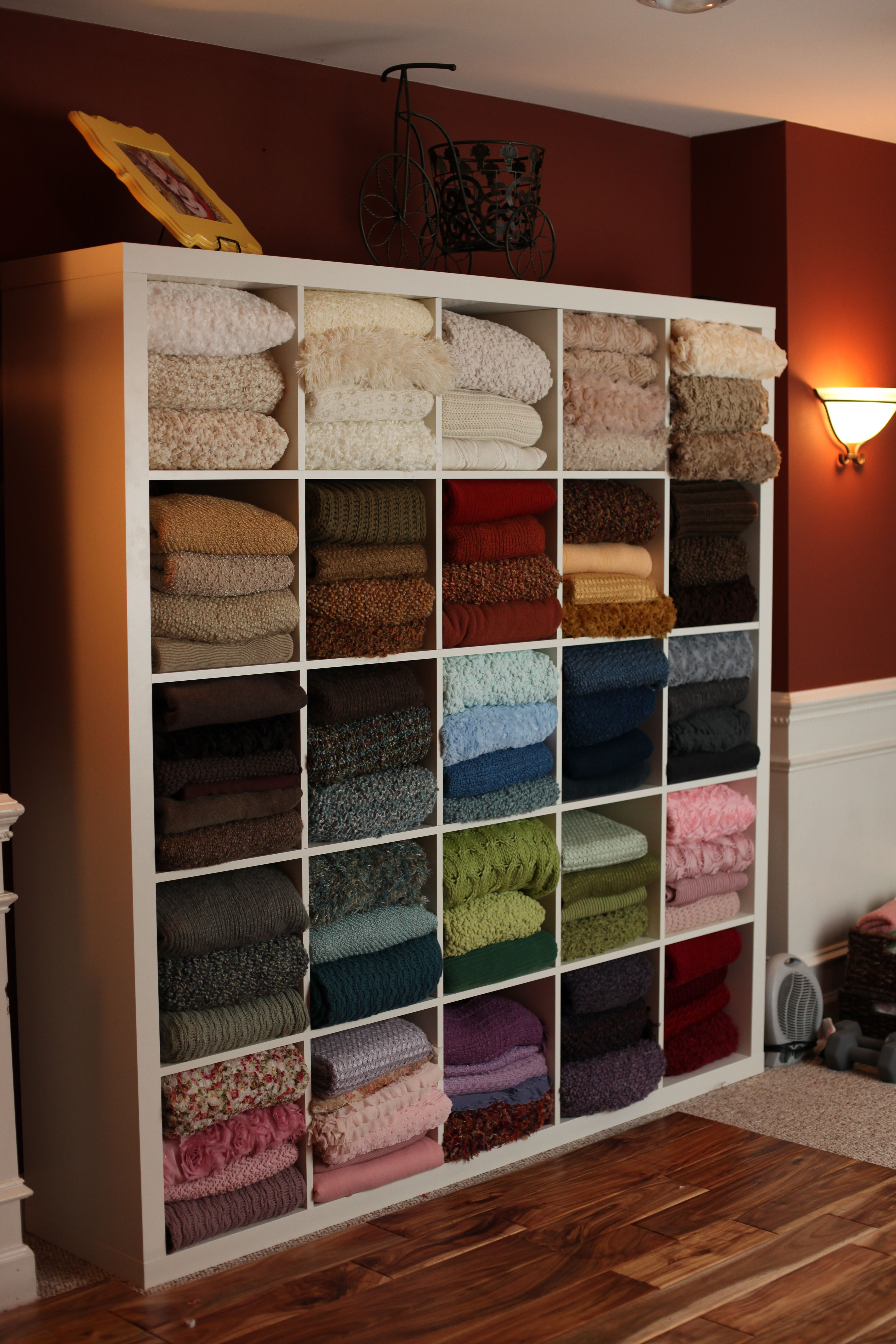 Elegant Prop Blanket Stash, I Would Love To Have A Fraction Of It! I Am In Heaven