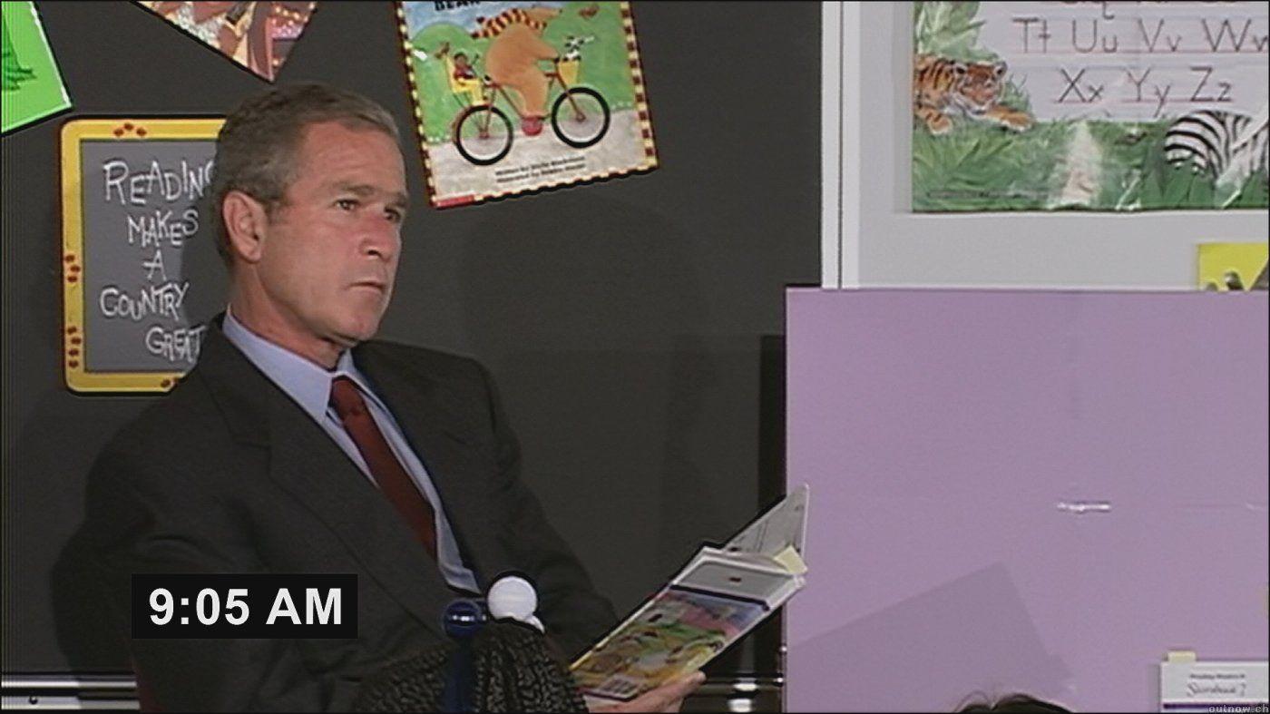 George W Bush 9 11 Waiting 9 05 Am Imatge Farenheit 9 11 Paper Trail Ignore George