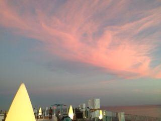 On top of the Hard Rock Hotel, Ibiza