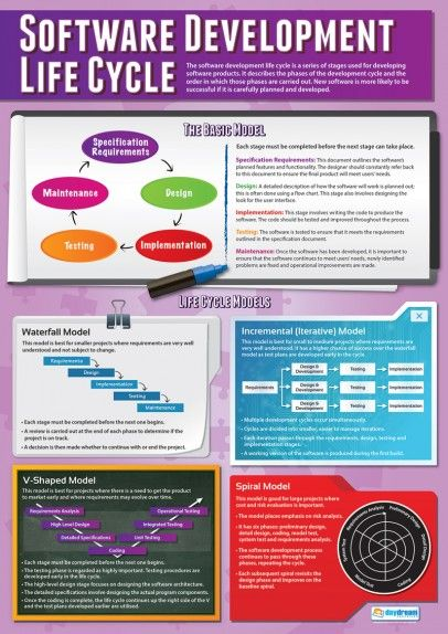 Software Development Life Cycle Poster Computer Science