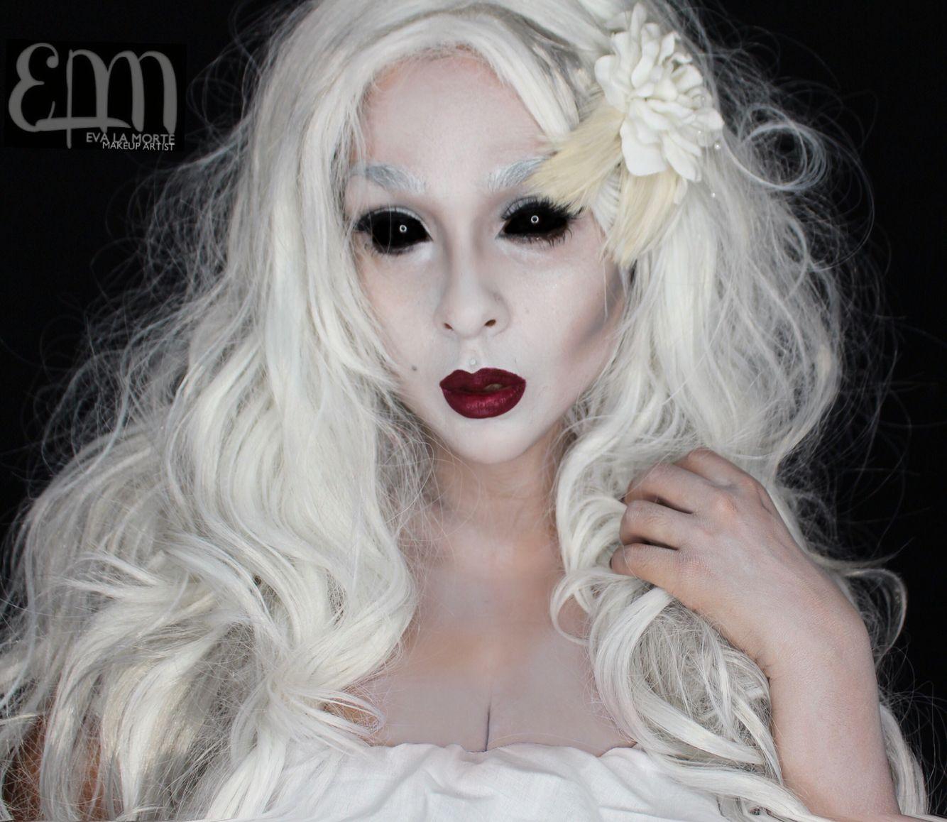 Ghost makeup, beautiful ghost makeup. Ghost. Mua: Eva lamorte ...