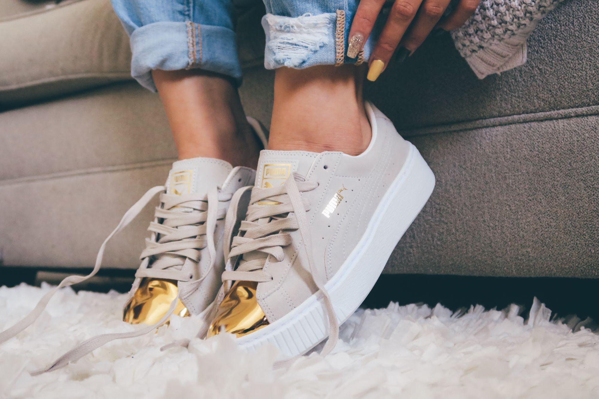 Puma Platform Sneaker Gold