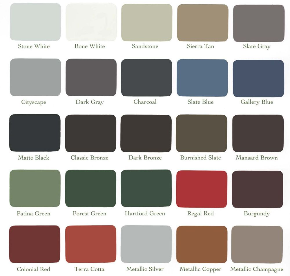 Best Metal Fabrication Color Chart Construction Services In 400 x 300