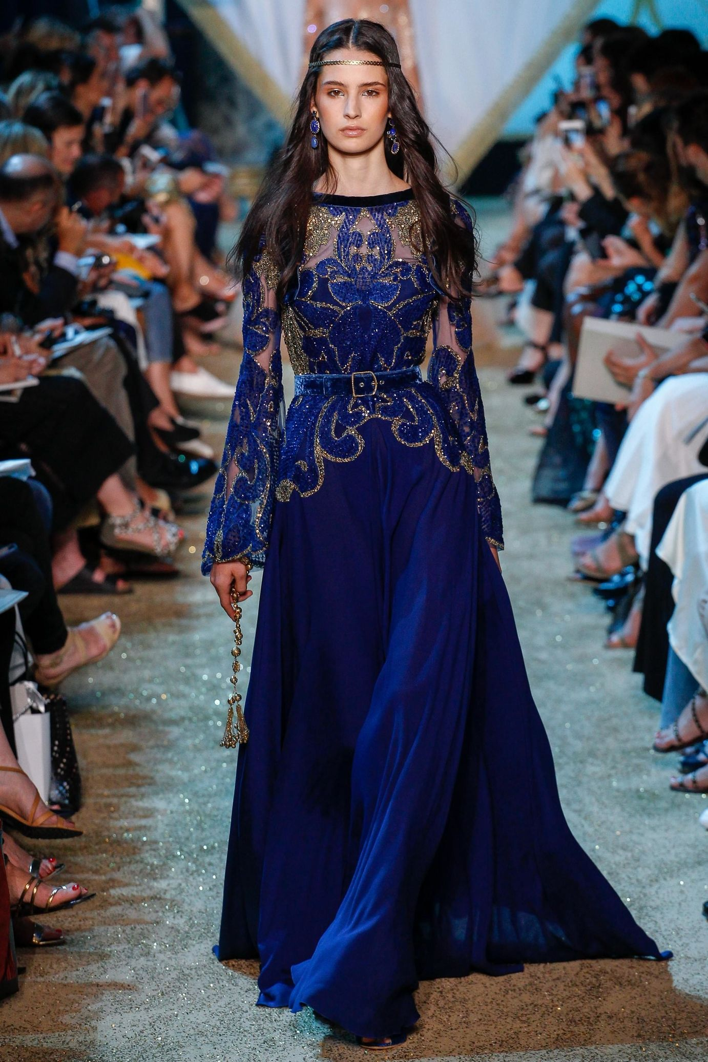 Saab elie haute couture fall runway pictures