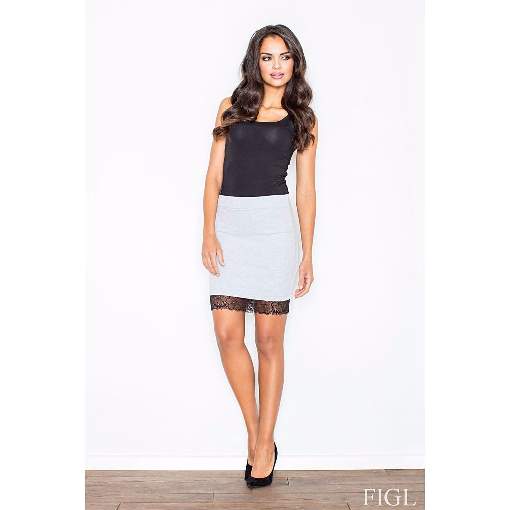 White Skirt With Lace Laveliq LAVELIQ