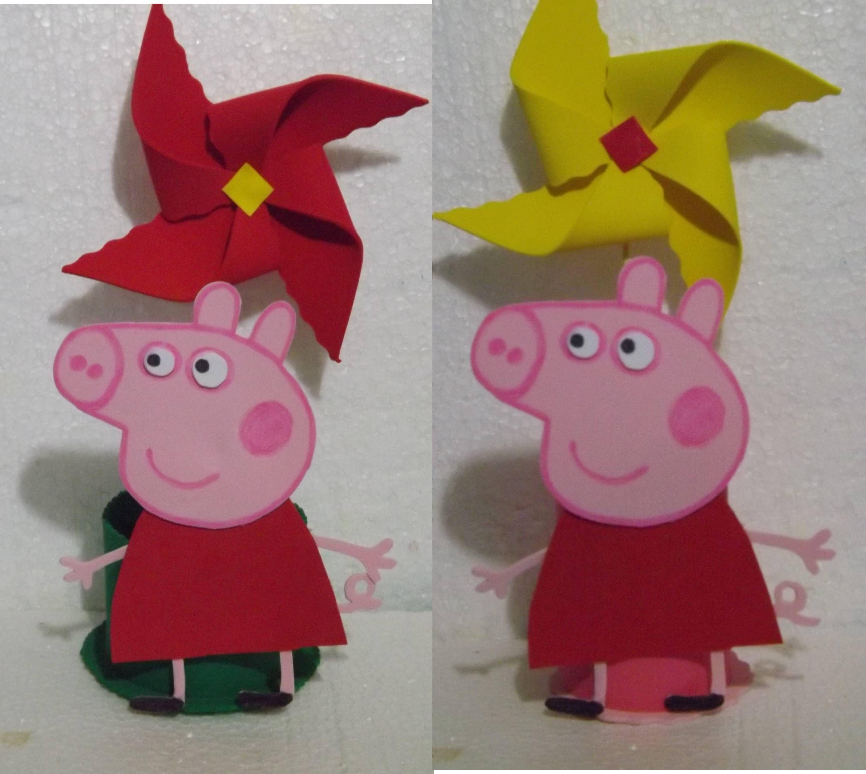 Centro de mesa Festa Peppa Pig