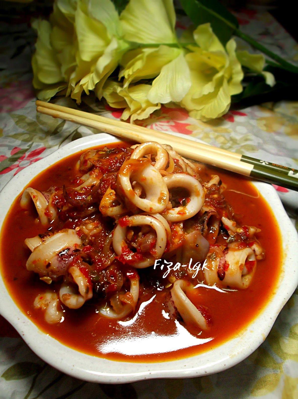 Fiza S Cooking Sambal Tumis Sotong Mudah Resep Masakan Pedas Resep Makanan Masakan Indonesia