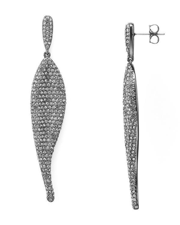 Nadri Wave Pave Drop Earrings