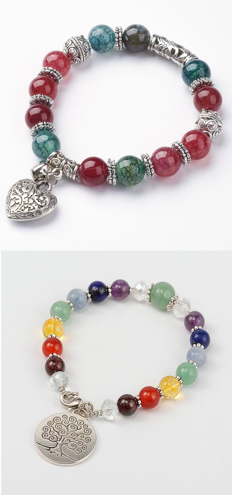 Pulseras con separador y de elastico jewelry diy pinterest