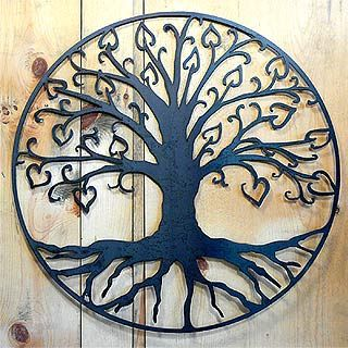 Outdoor Wall Art Metal tree of life with hearts outdoor wall art | tree art | pinterest