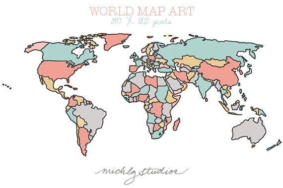 Vector and png world map watercolor outline digital clip art vector and png world map watercolor outline digital clip art state country silhouette gumiabroncs Choice Image
