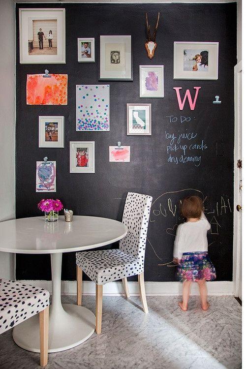 Nicht Nur Im Kinderzimmer Oder In Der Küche Zum Malen Oder Als Memoboard.  Auch Im Wohnzimmer Sieht Eine Wand In Dem Schlichten Anthrazitton Sehr ...