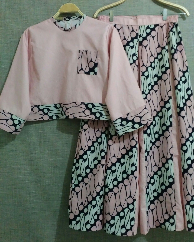 Model Baju Gamis Batik Kombinasi Terbaru Trend Baju Batik