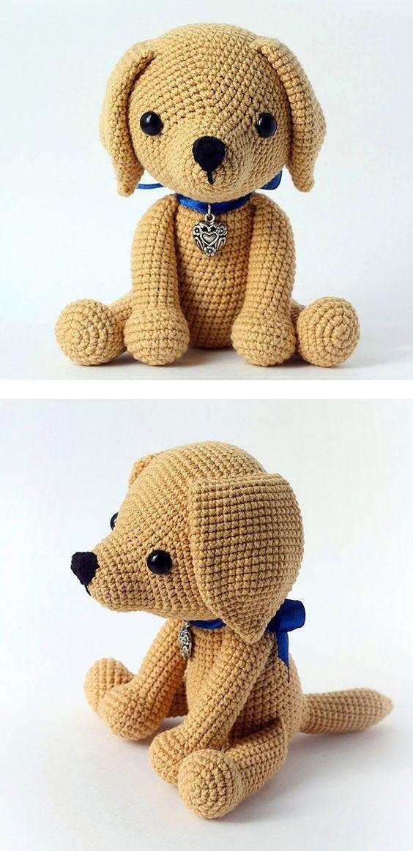 Lucky puppy amigurumi pattern | Häkeln, Häkeltiere und Häckeln