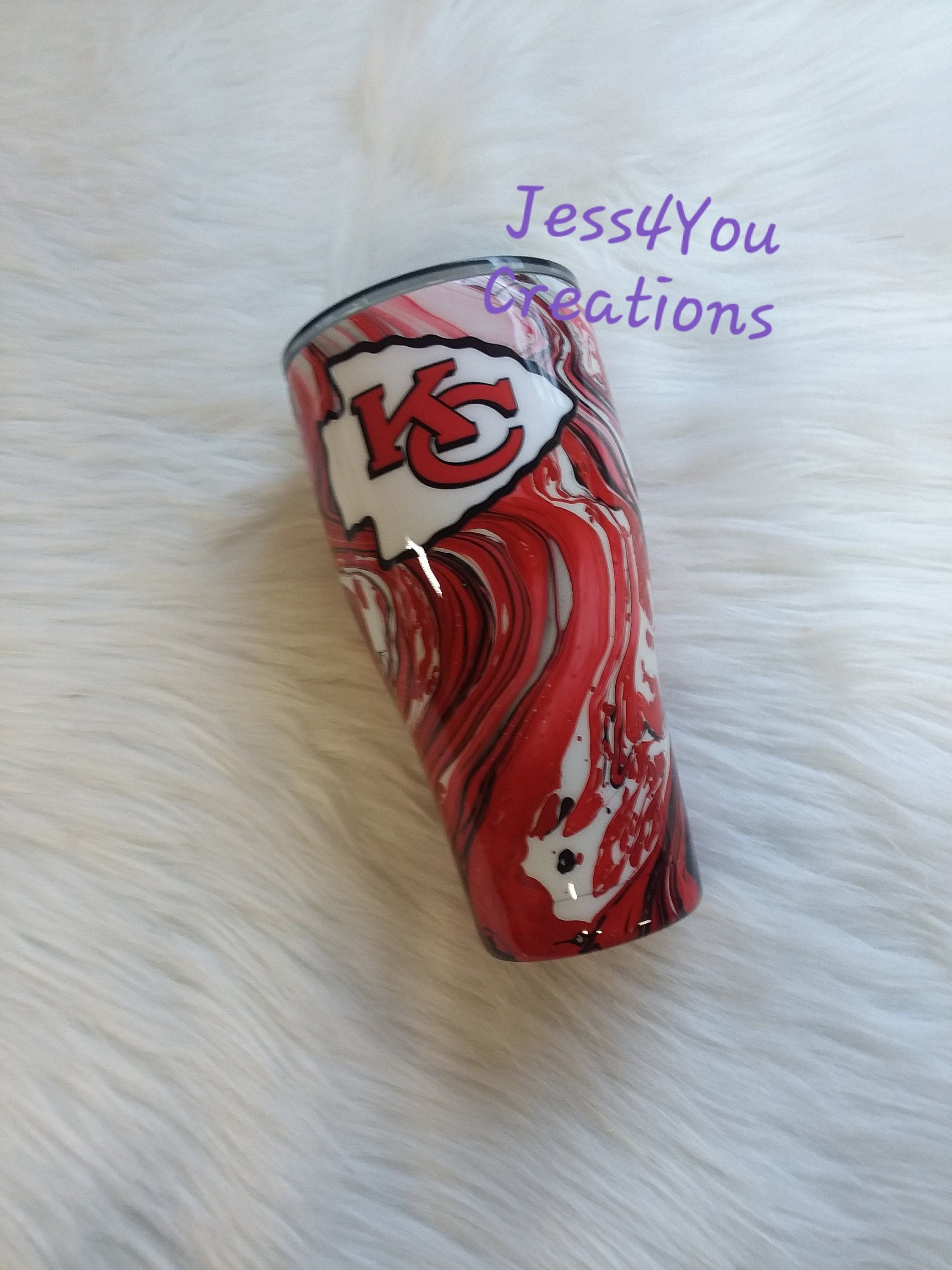 Kansas City Chiefs Hydro Dipped Tumbler Stainless Steel