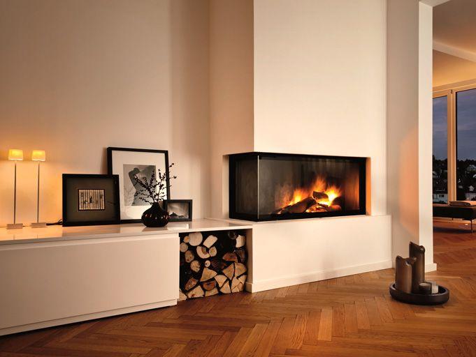 Galerie - Baufeuer Brandherm GmbH - Kamine, Kachelöfen, Kaminöfen - moderne wohnzimmer mit galerie
